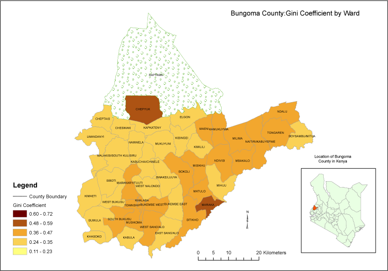BungomaCounty_GiniCoefficient